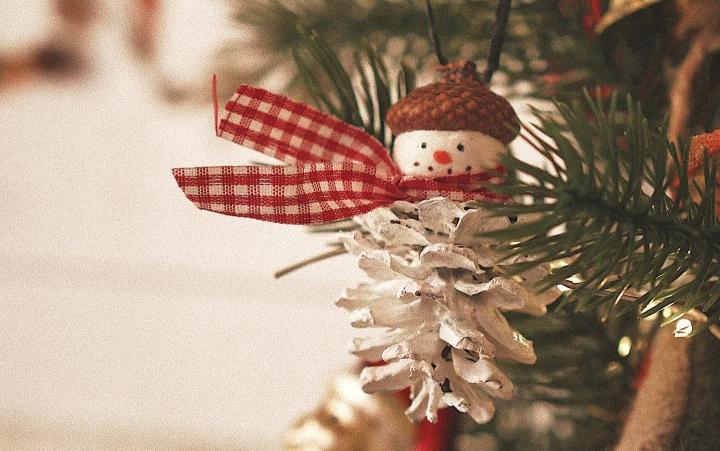 Коледен орнамент – снеженчовек